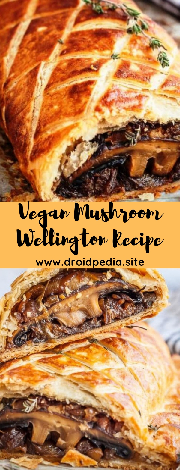 Vegan Mushroom Wellington Recipe #mushroom #vegan