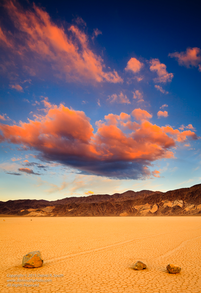 a photo of the Racetrack Playa At Sunset Death Valley National Park
