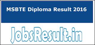 MSBTE Diploma Result 2016