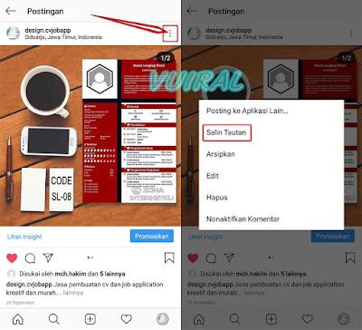 Cara Copy Link Postingan Foto Dan Video Instagram