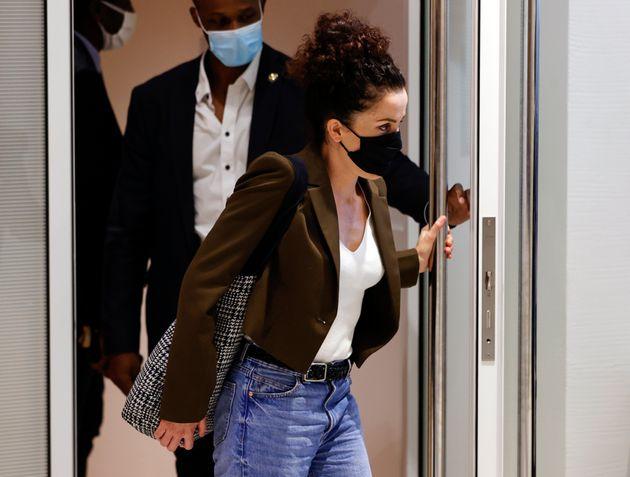 Corinne Rey, ici quittant la salle d'audience du palais de justice de Paris, le 8 septembre 2020.