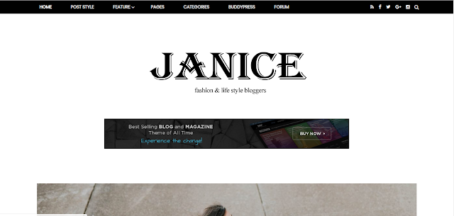 Janice blogger template