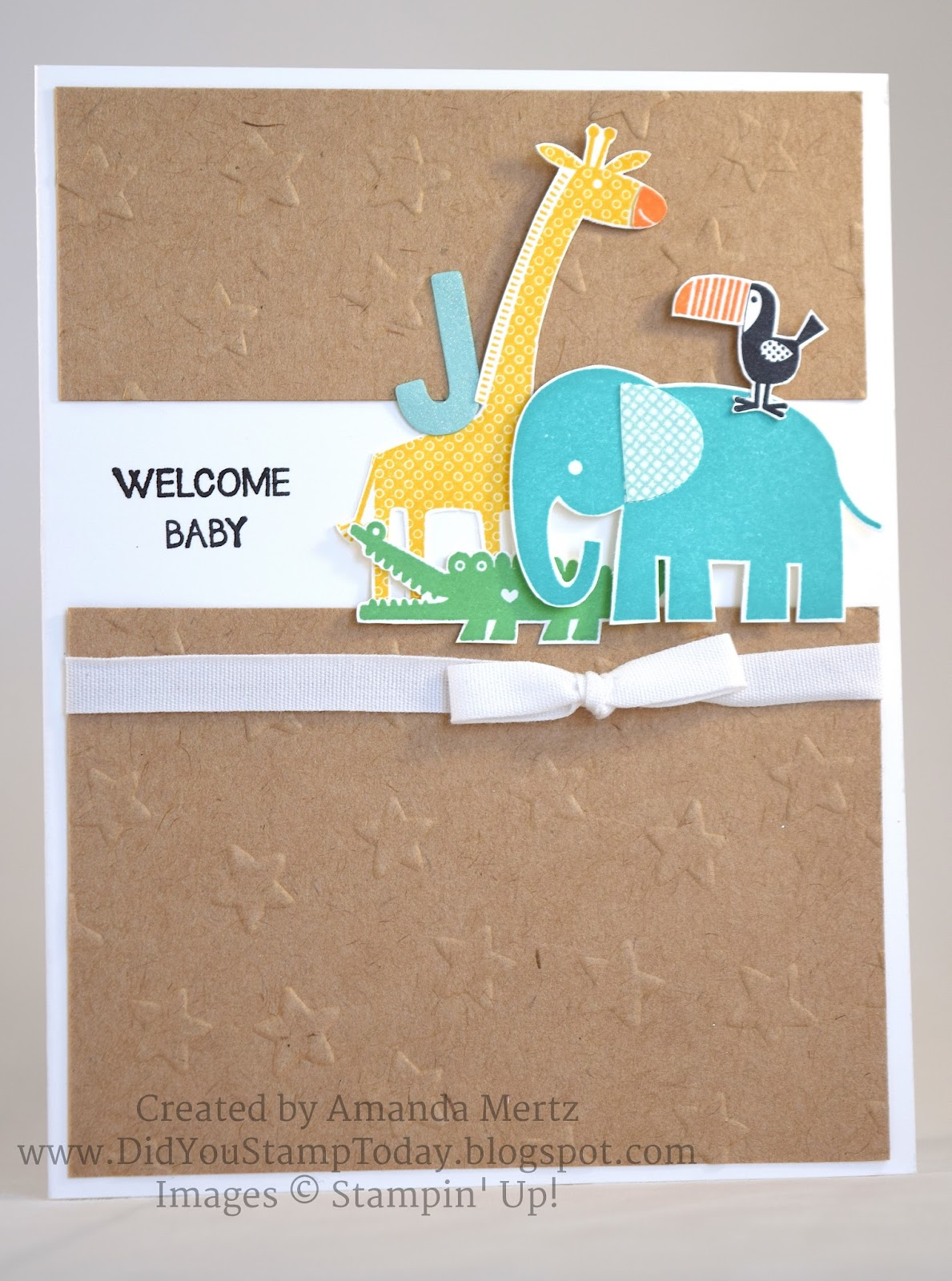 Did You Stamp Today Welcome New Baby Stampin Up Zoo