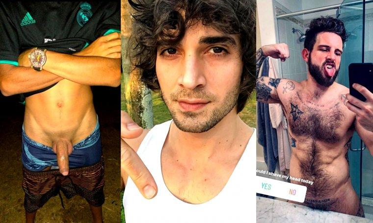 Homens Brasileiros pelados durante quarentena.