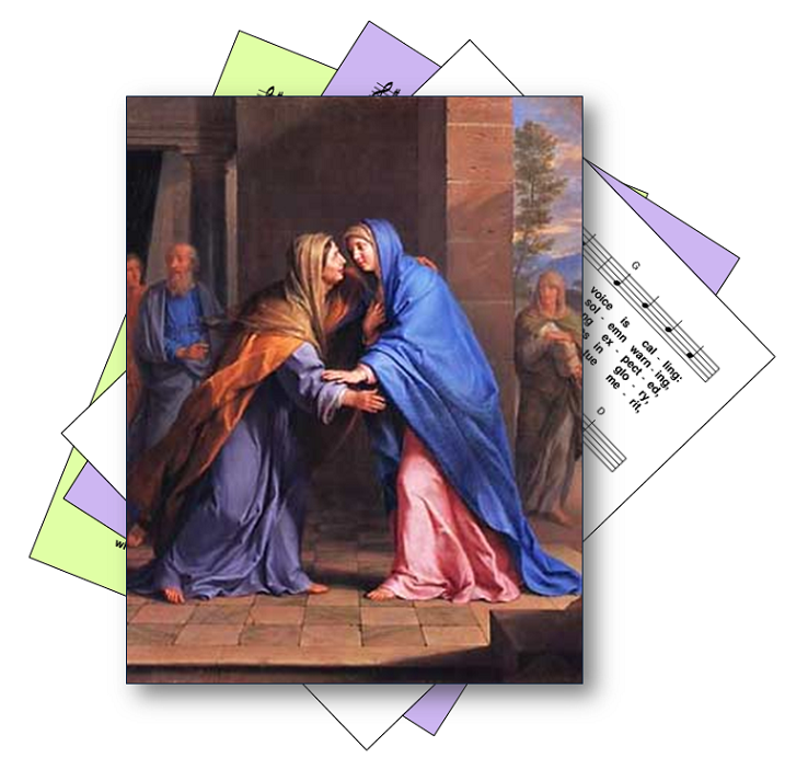 Hymns for the feast of the visitation of the blessed virgin mary to elizabeth, mother of john the baptist