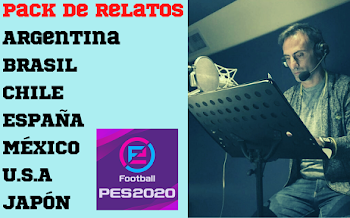 Pack de Relatos   PES2020   PC   Argentina   Brasil   México   España   U.S.A