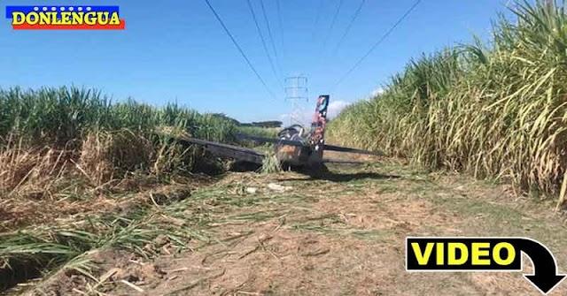 Avión Tucano de las FANB cayó en picada en la Hacienda Santa Clara de Carabobo