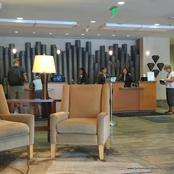 lobby at The Westin Monache Resort, Mammoth at Mammoth Lakes, California