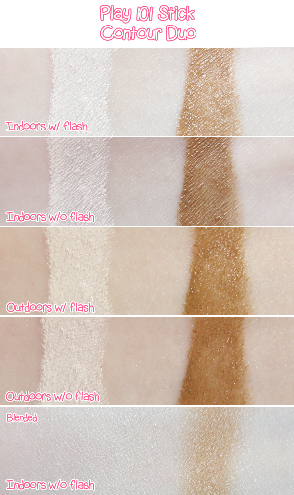 Play 101 Stick 01 11 13 Contour Duo Review and Swatches