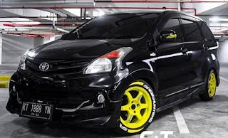 Modifikasi Mobil Avanza Warna Hitam Polos, Original ...