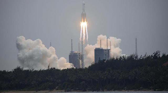 صاروخ صيني خارج عن السيطرة يسقط على الأرض في غضون أيام