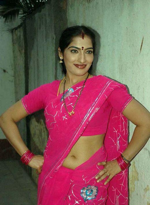 Indian Masala Tamil Telugu Indian Actress Saree Navel -2879