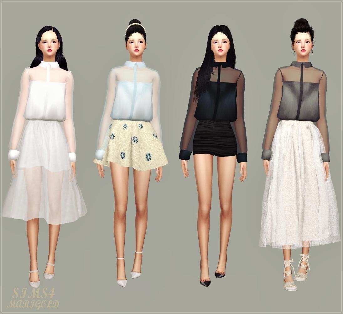 My Sims 4 Blog: Sheer Blouse by Marigold