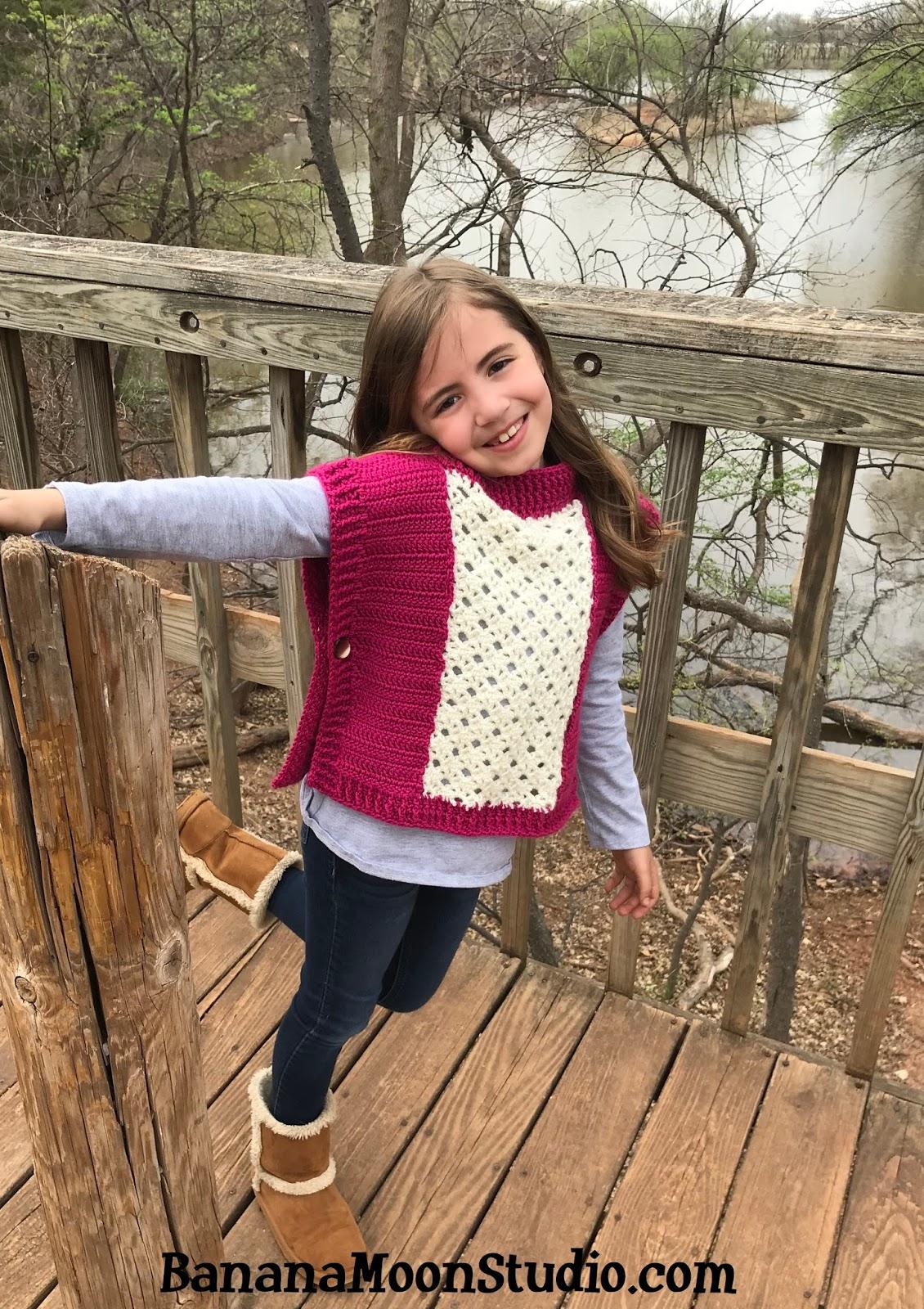 Banana Moon Studio : Free Crochet Pattern for a Girls Poncho ...
