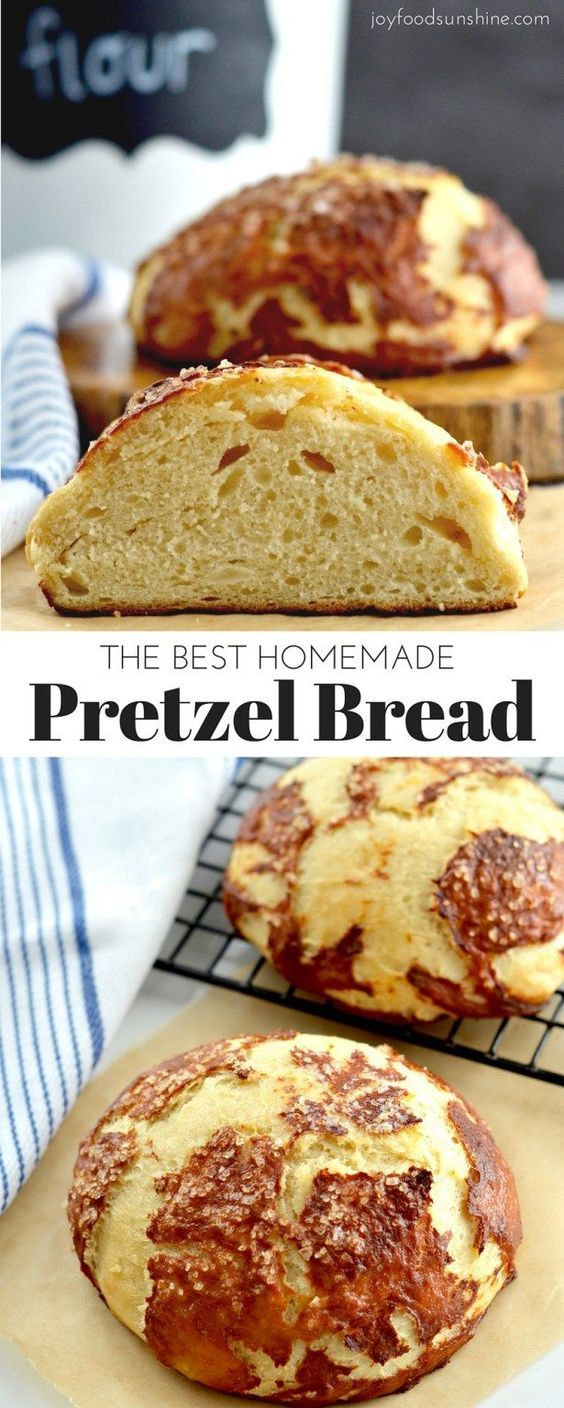 The BEST Homemade Pretzel Bread recipe ever. Seriously, once you make this you will never be able to eat store-bought pretzel bread again! It's dense, soft, chewy, buttery, salty and oh-so-delicious. We've included a video with step-by-step instructions!