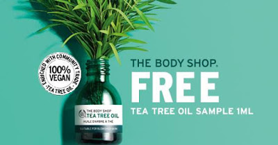 The Body Shop Malaysia Free Tea Tree Oil Sample Giveaway