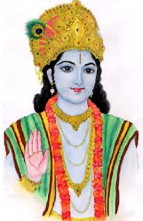 10 lines on lord Krishna in Hindi