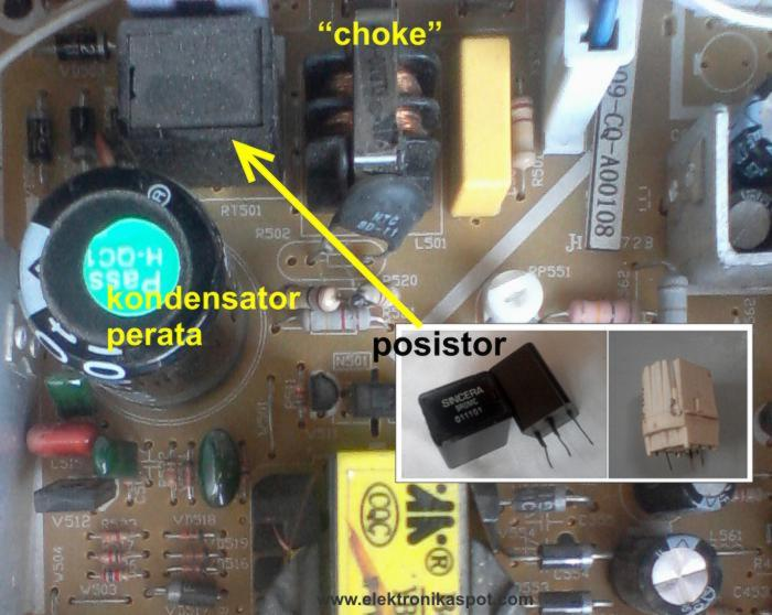Memperbaiki Tv Pengenalan Power Supply Tv Elektronika Spot