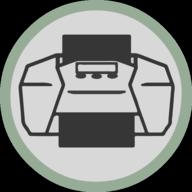 print button outline