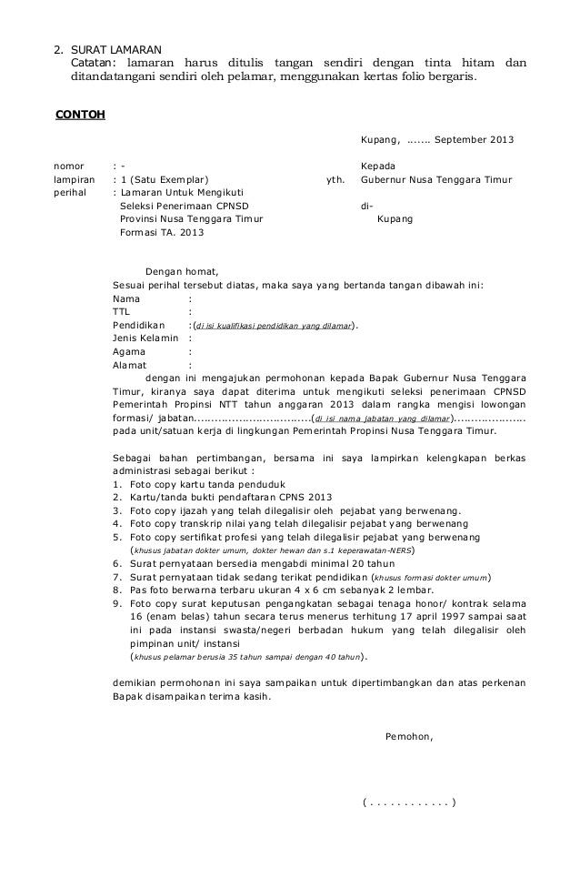 Contoh Surat Lamaran Cpns Kemenristek Dikti Kumpulan Surat Penting