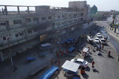 La ciudad iraquí de Kirkuk después del asalto de los terroristas del Estado Islámico, el 22 de octubre de 2016.Ako RasheedReuters