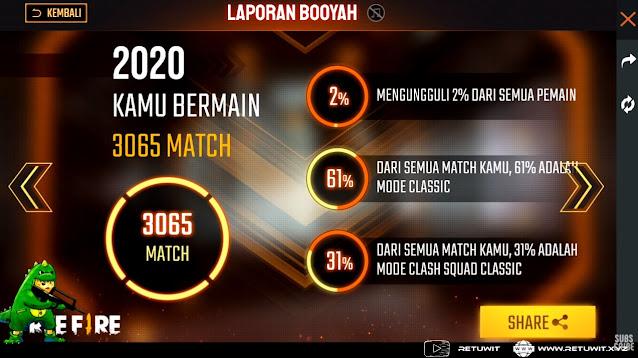 total match laporan booyah