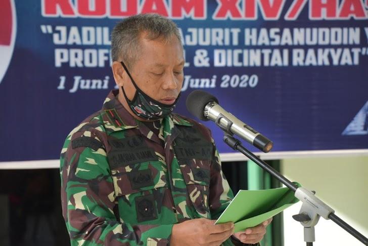 Danrem Brigjen Djashar Gelar Acara Syukuran HUT Kodam Hasanuddin Ke 63 Dirangkaikan Giat Bakti Sosial
