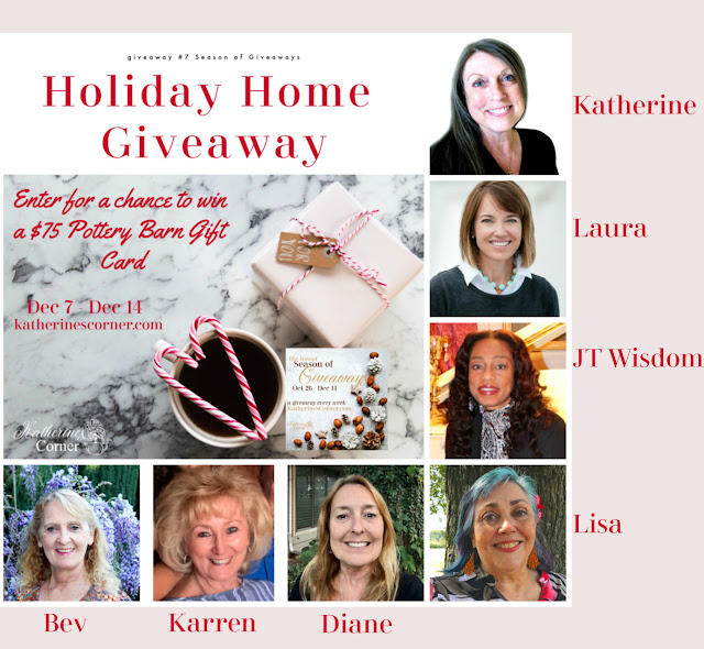 Holiday Home Giveaway. Share NOW #giveaway #katherinescorner #eclecticredbarn