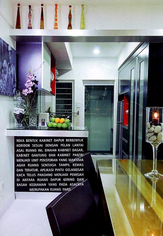 Ruang Dapur Yang Dilengkapi Dengna Kabinet Dasar Dan Gantung Sebagai Unit Penstoran Ini Boleh Dilihat Secara Langsung Dari Makan