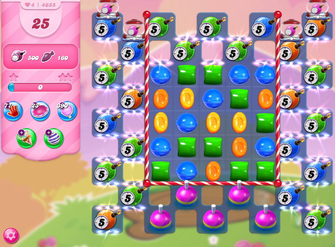 Candy Crush Saga level 4655