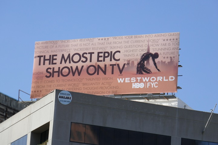 Westworld 2020 Emmy FYC billboard