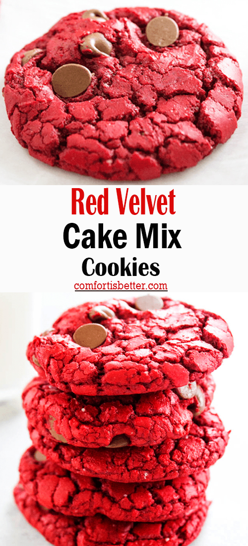 Red Velvet Cake Mix Cookies