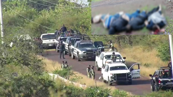 Masacran a 5 en Tangamandapio, Michoacán y los dejan apilados