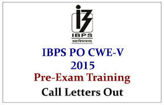 IBPS PO CWE-V Pre-Exam Training Call Letters Out- Check Here