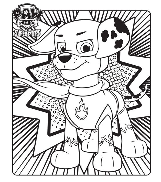 Paw patrol coloring pages 4