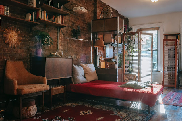 A view of inside a studio apartment