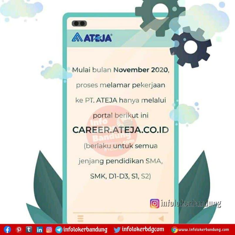 Lowongan Kerja PT. Ateja Bandung Februari 2021