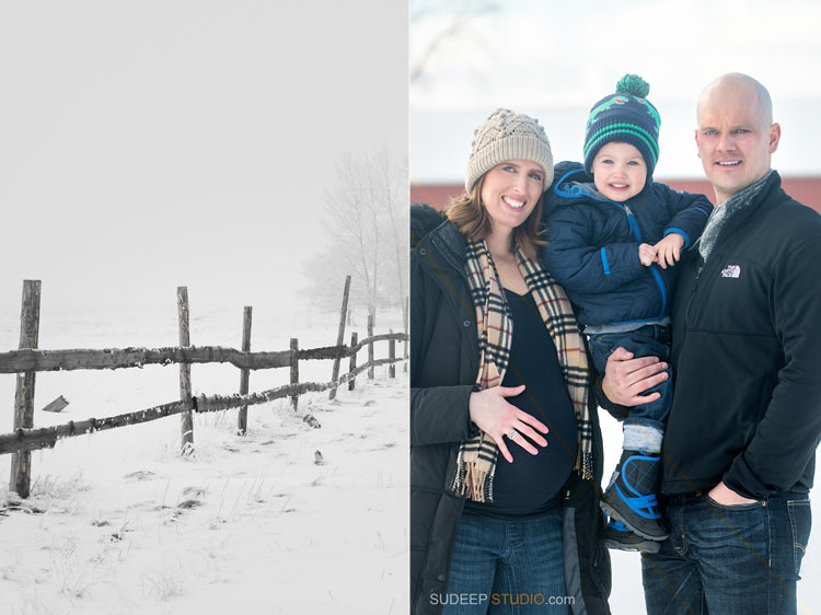 Winter Maternity Photography SudeepStudio.com Ann Arbor Maternity New Born Portrait Photographer