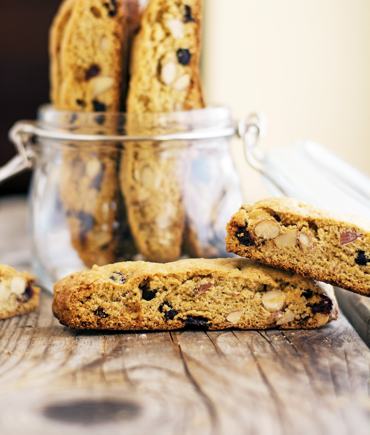 Whole Wheat Almond Cranberry Biscotti