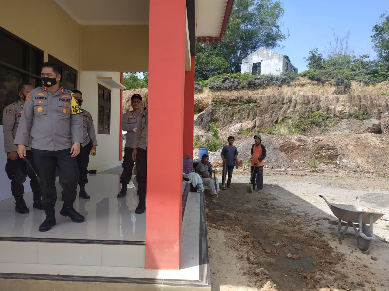 Kapolres Lingga Mengunjungi dan Mengecek Mako Sat Pol Airud Polres Lingga