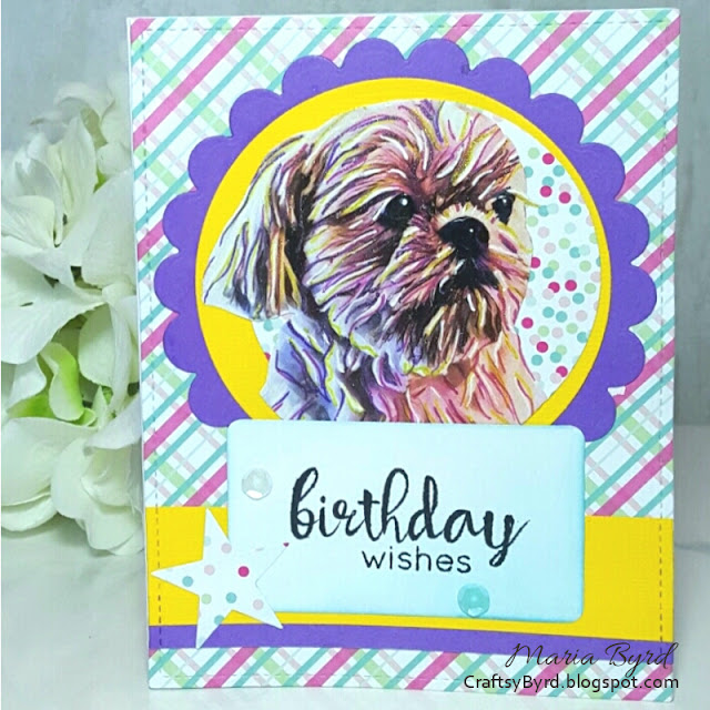 PicsArt Birthday Card by Maria Byrd at CraftsyByrd.blogspot.com