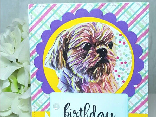 PicsArt: Fuzzball Birthday Card