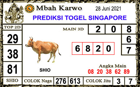 Prediksi Jitu Mbah Karwo SGP Senin 28-06-2021