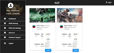 PUBG Tournament Web Application Software