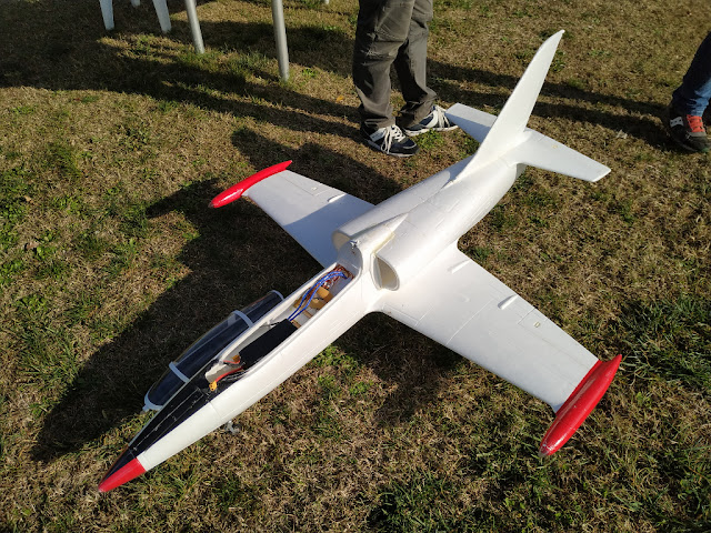 The RC L-39 Albatros model with Mad Trust 90 mm 12 blades