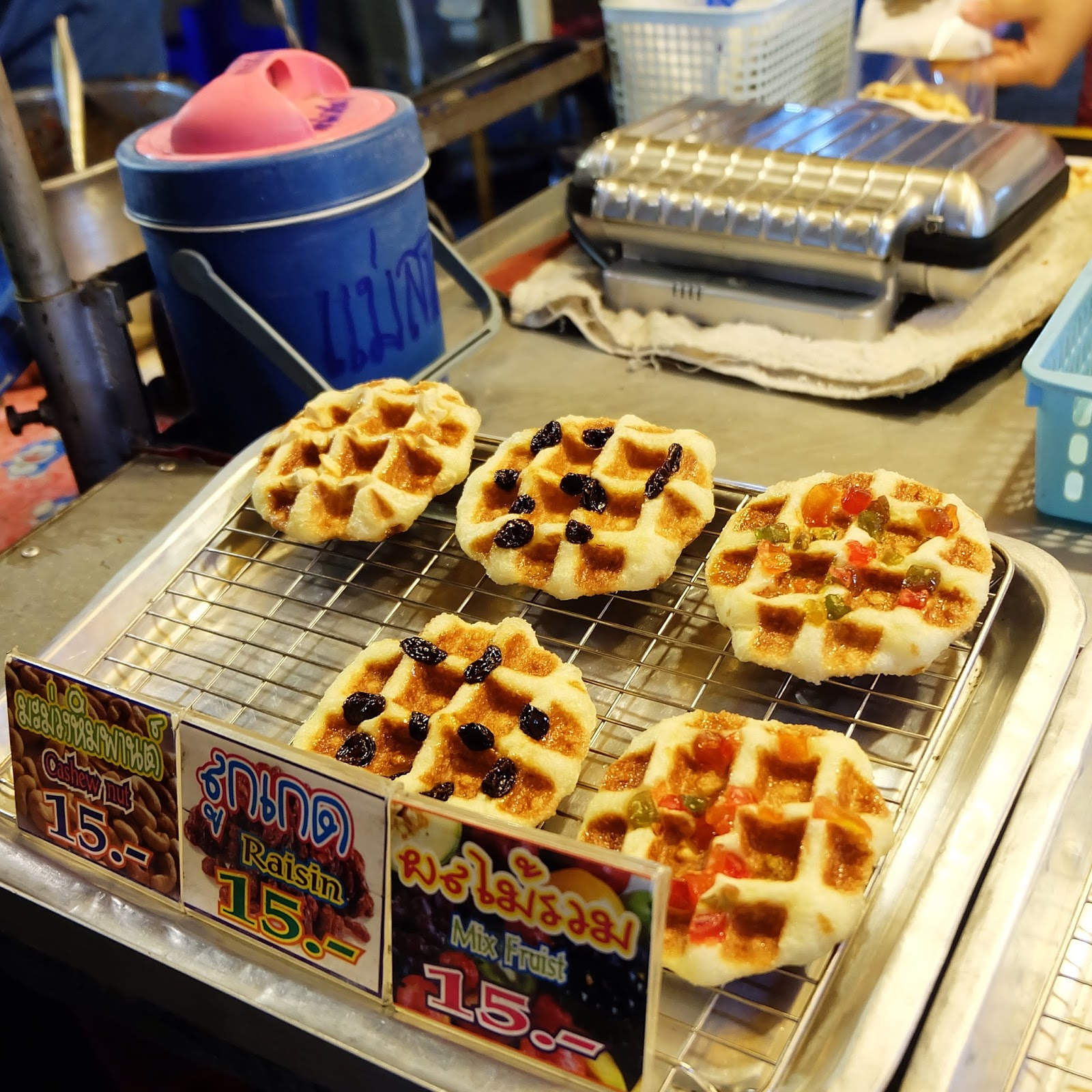Waffles from night market in Kanchanaburi