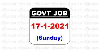 govt jobs 17 January 2021