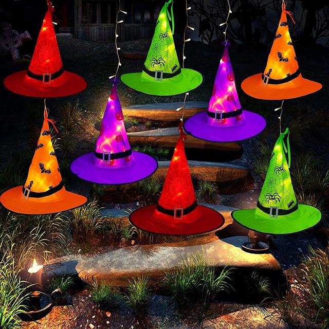 halloween decorations lights hats