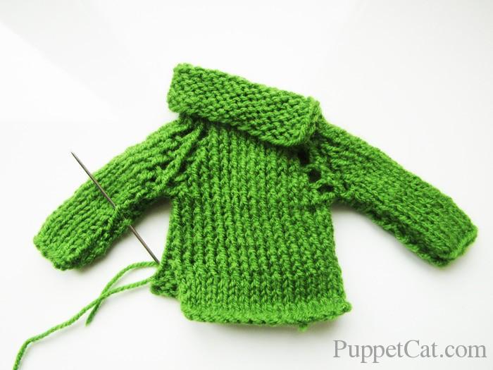 Как связать спицами свитер для Кена