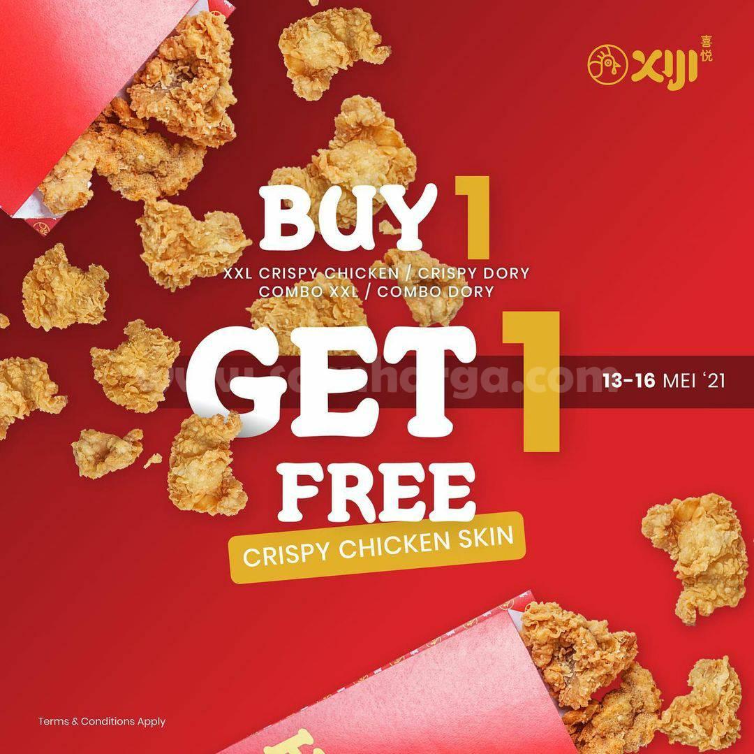 Promo XIJI Street Snack BELI 1 GRATIS 1 Crispy Chicken Skin